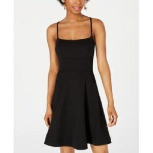 New B Darlin Open Back Lace Up Fit Flare Dress
